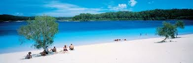 Fraser Island tours. Lake Mackenzie is one of the most iconic spots on the Fraser Coast.