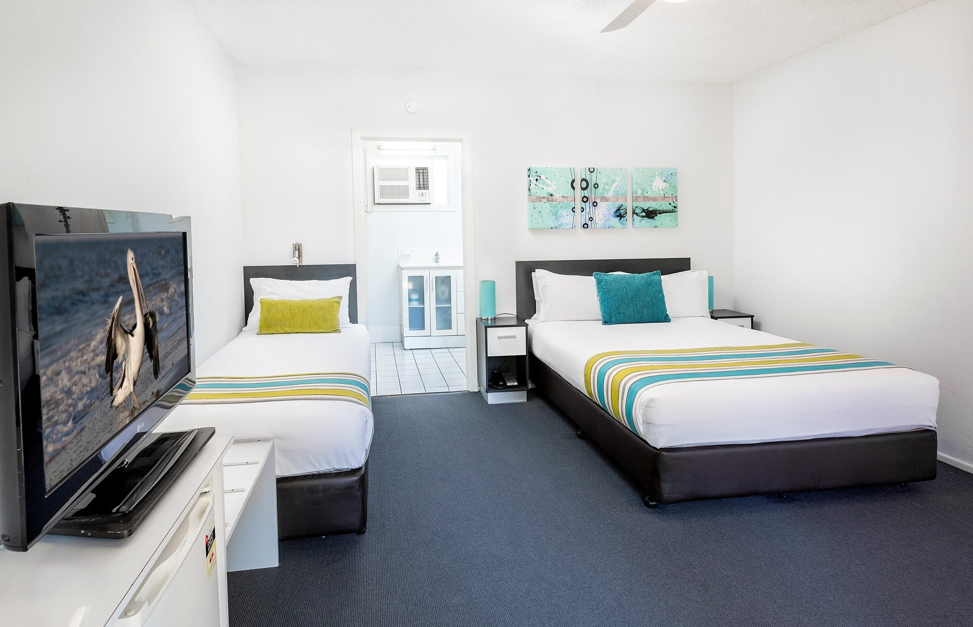 Ground floor rooms by the beach for group bookings at Hervey Bay Beach Motel