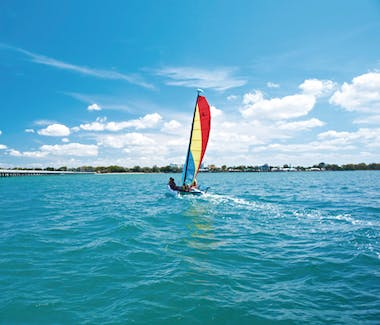 Shelly Beach in Hervey Bay is perfect for water sports