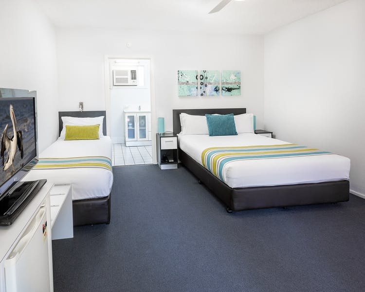 Our Standard rooms are located on the ground floor and close to the beach in Hervey Bay