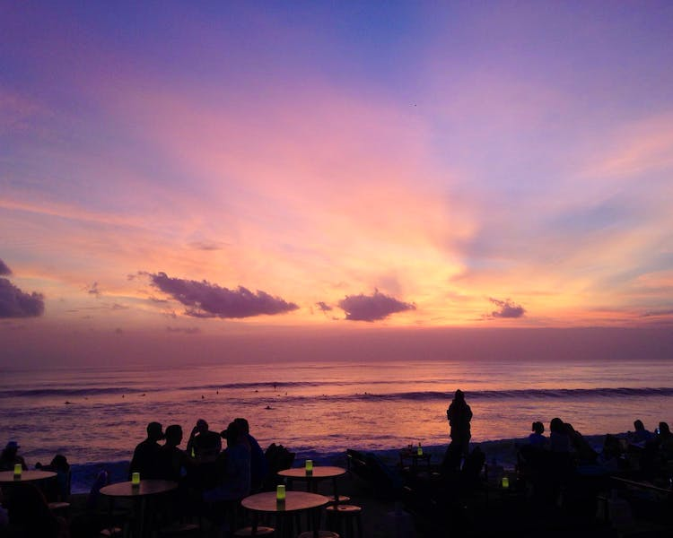 Enjoying sunset at Canggu Beach