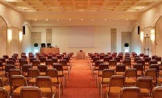Main conference hall at Rhodes Bay Hotel