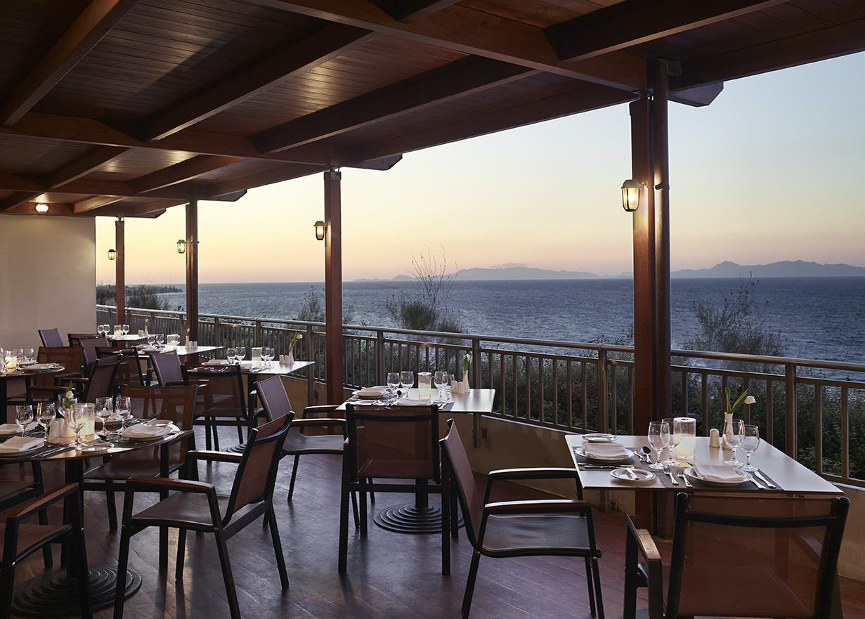 Main restaurant sea view terrace on the 10th floor