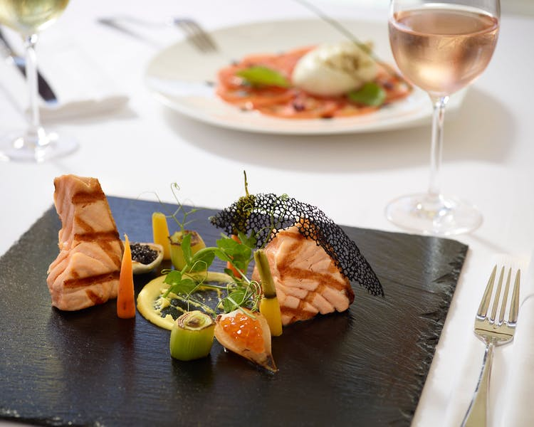 Star salmon dish at the a la carte restaurant