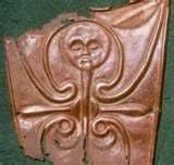 Shield decoration 2nd Century BC. Talyllyn hoard, as shown on the Wine List at the Pen-y-Bont Hotel, Talyllyn.