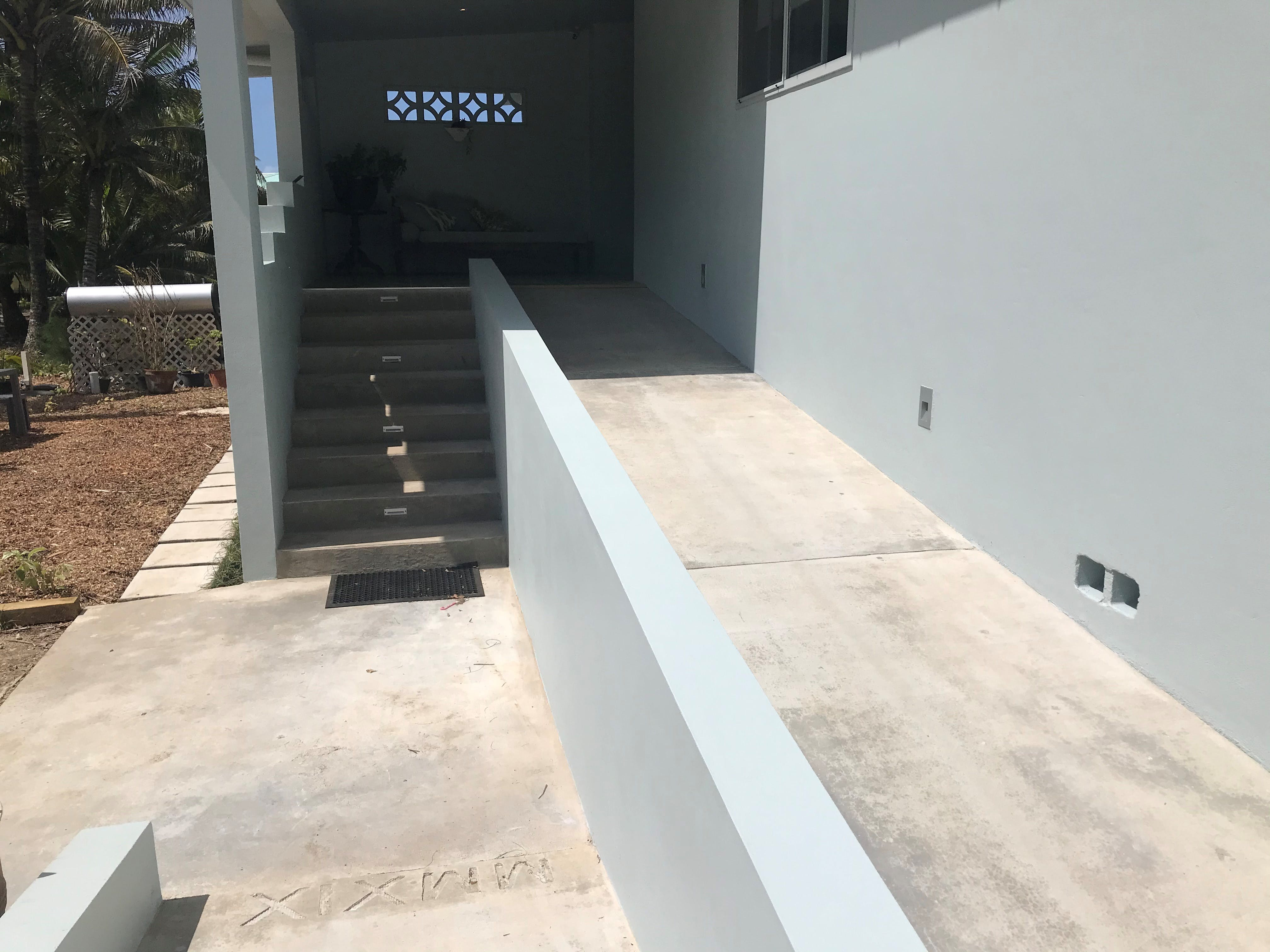 Well lit stair and wheel chair ramp for easy accessibility
