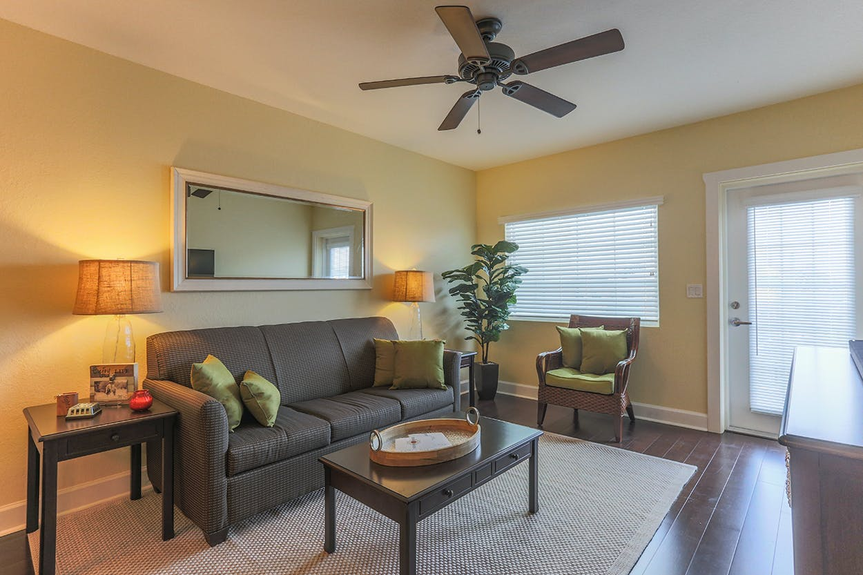 Harbourside At Marker 33, Indian Rocks Beach, 1 or 2 bedroom Condos. Living Room.