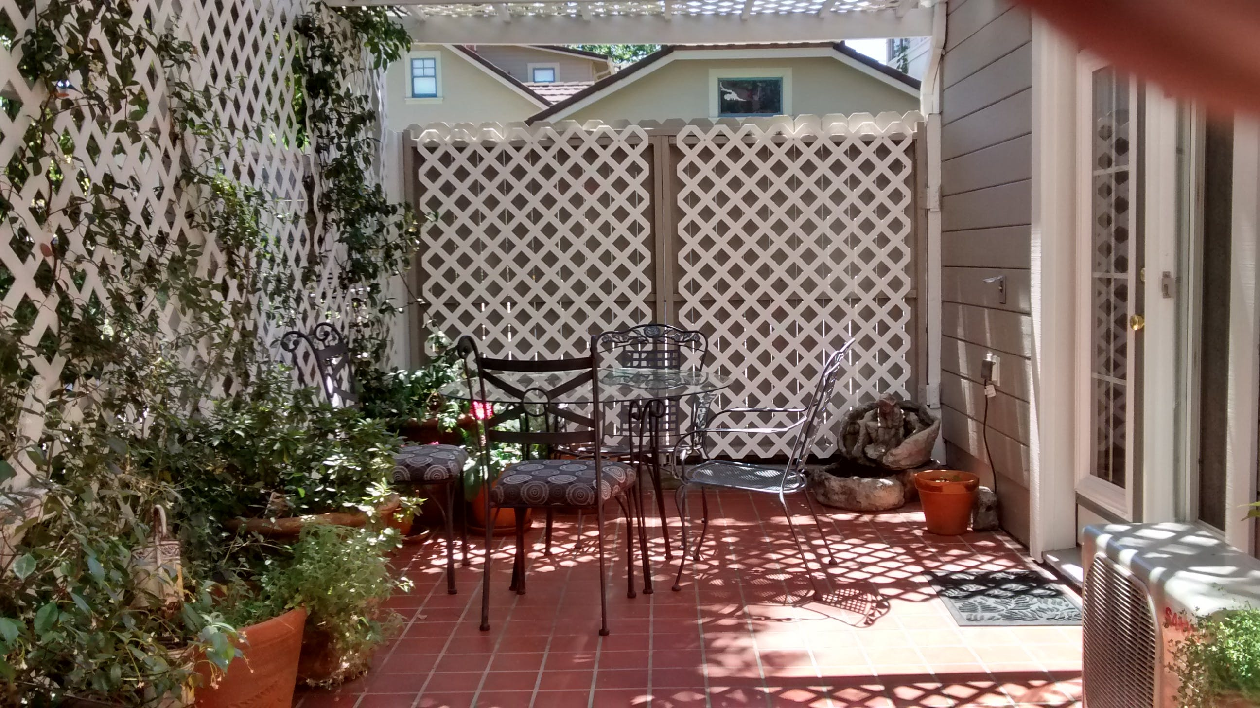 Prospector room private patio and entrance