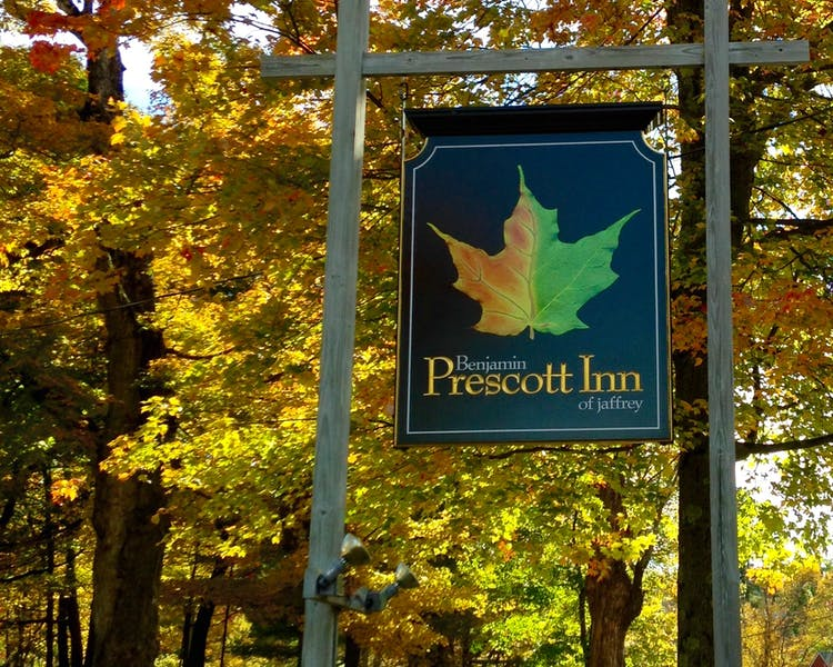 Benjamin Prescott Inn views of fall foliage