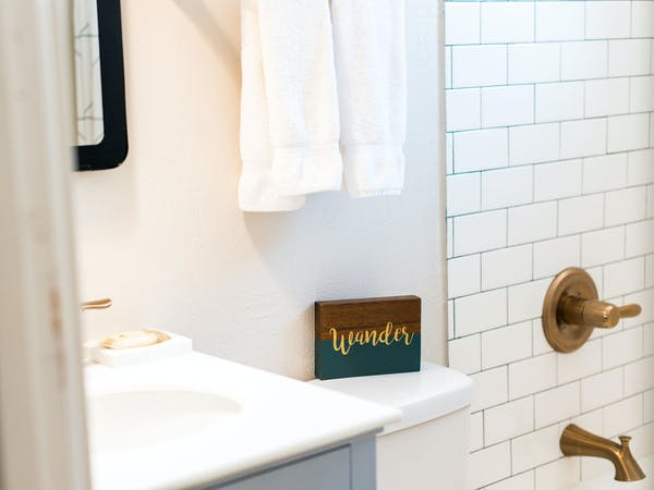 Luxury hotel bathroom Coastal Suites Resort