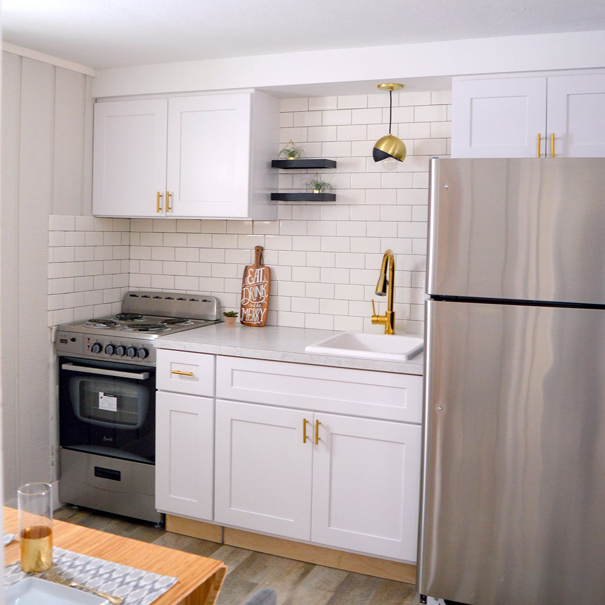 Kitchenette luxury hotel room