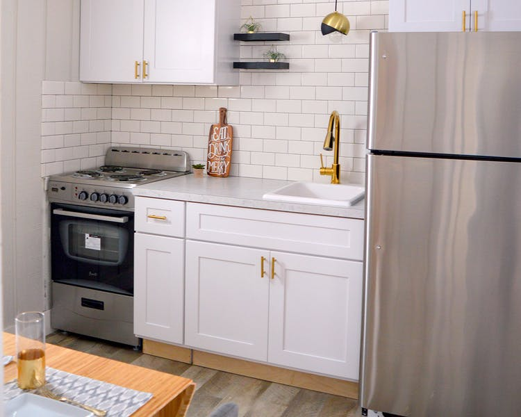 Kitchenette in luxury 2 bedroom suite Beulah Michigan
