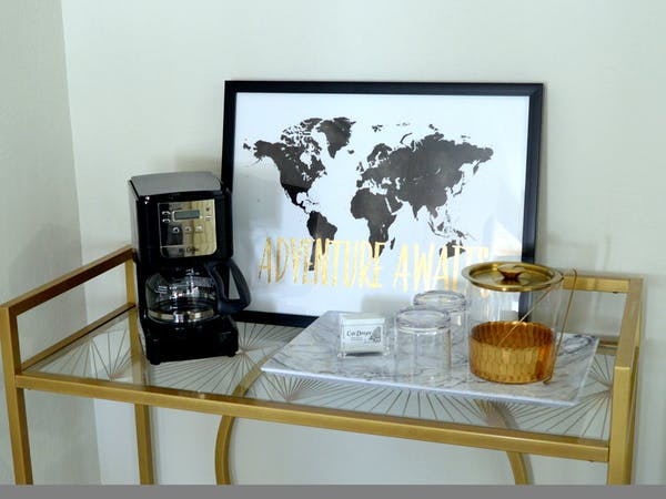 Coffee bar in hotel room