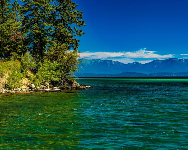 View of Flathead lake