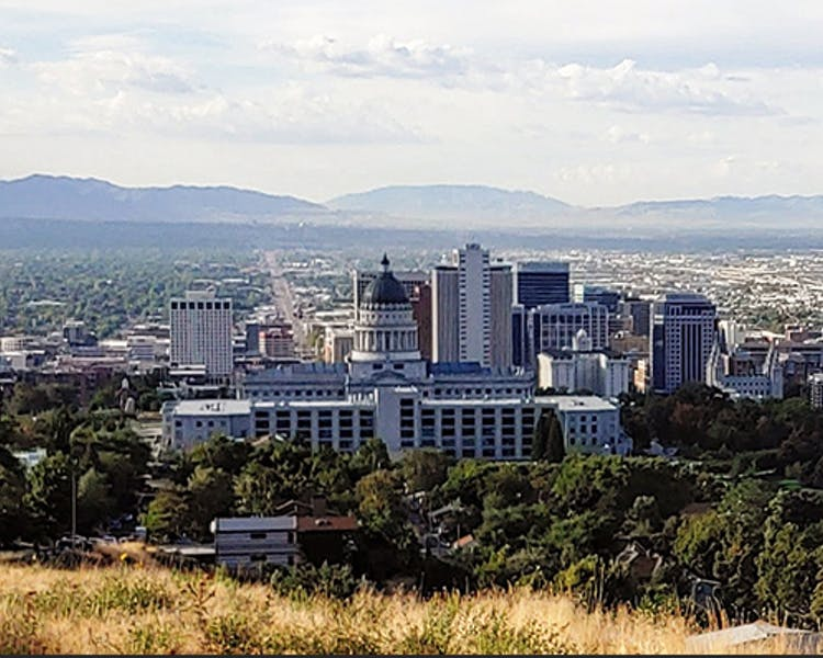 The panoramic view from Ensign Peak allows you the opportunity to see Salt Lake City, Utah State Capitol, Downtown and more.