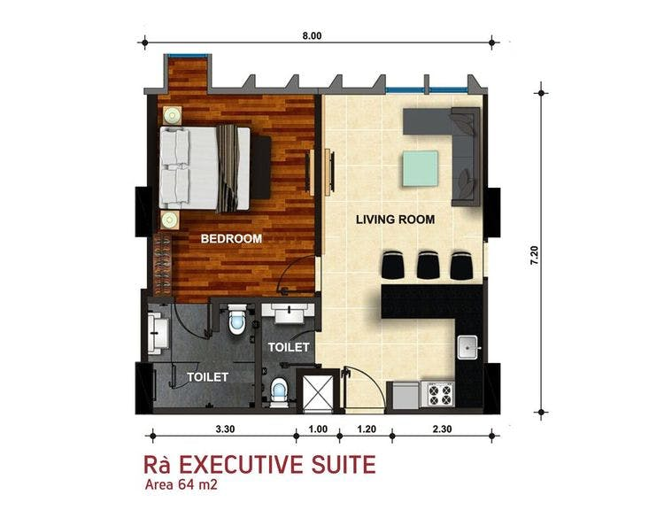 Ra Executive Suite Denah