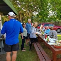 Guests enjoying a bbq