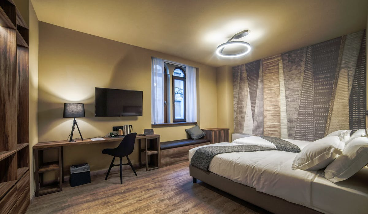Boutique Room Trieste Hotel Design twin room letti singoli