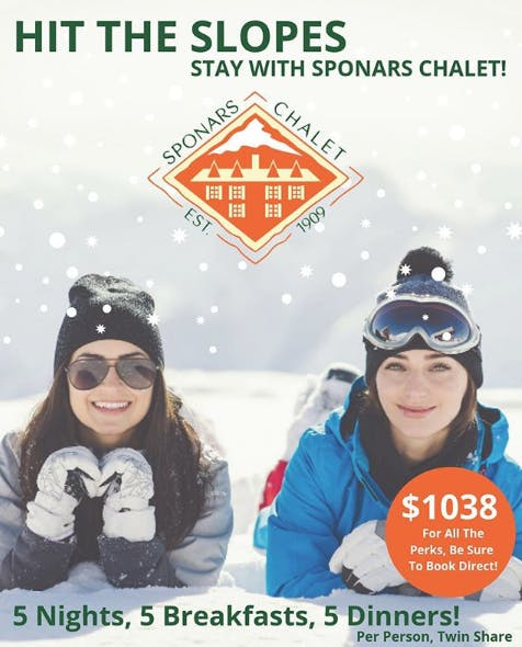 Hit The Slopes Package at Sponars Chalet
