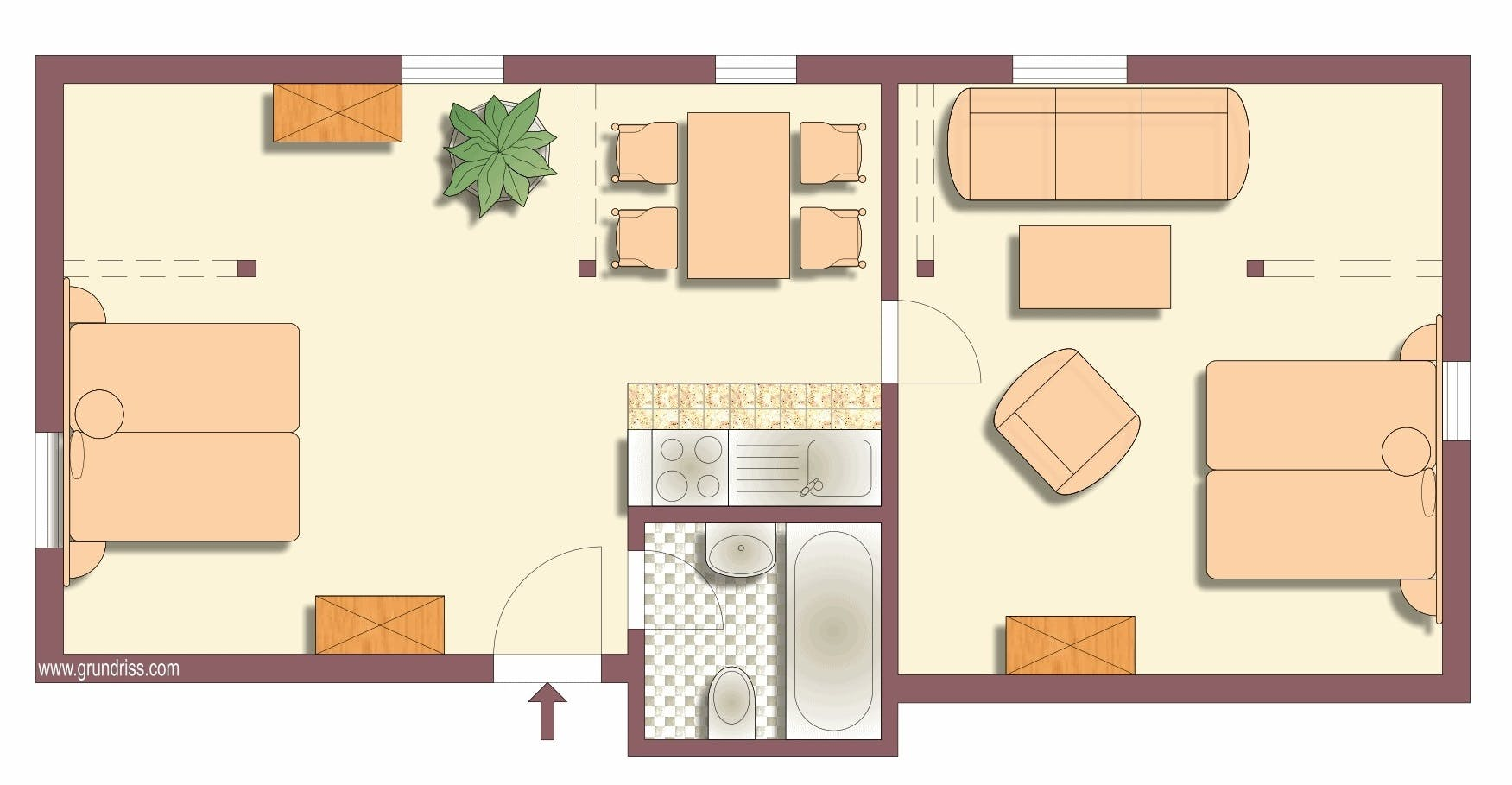 Villa Barbara Dresden - floor plan apartment 5