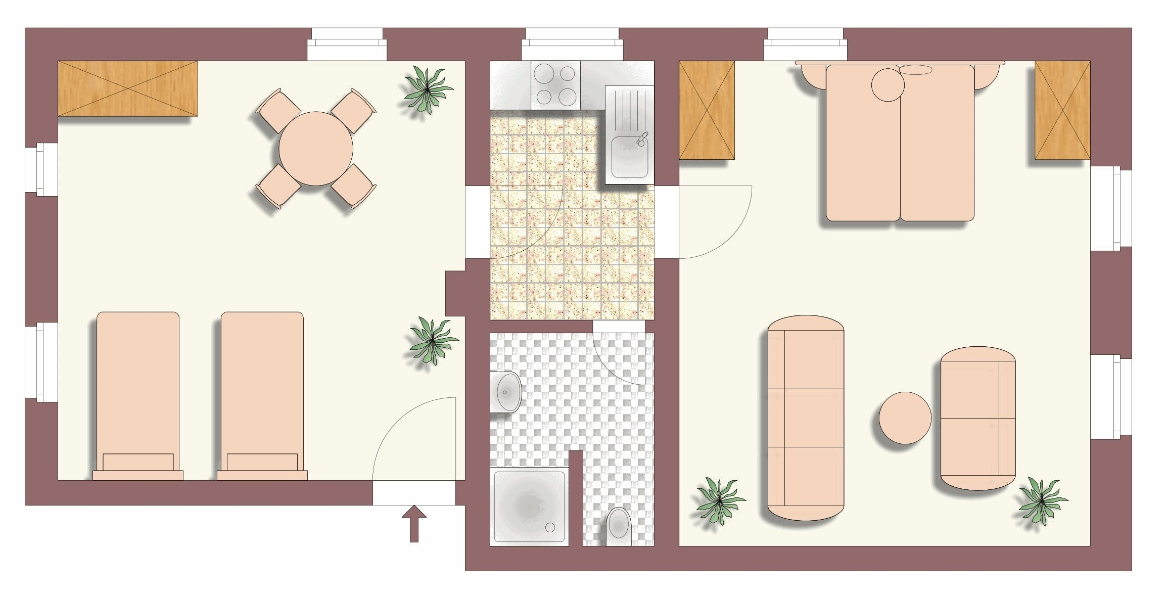 Villa Barbara Dresden - floor plan apartment 1-3