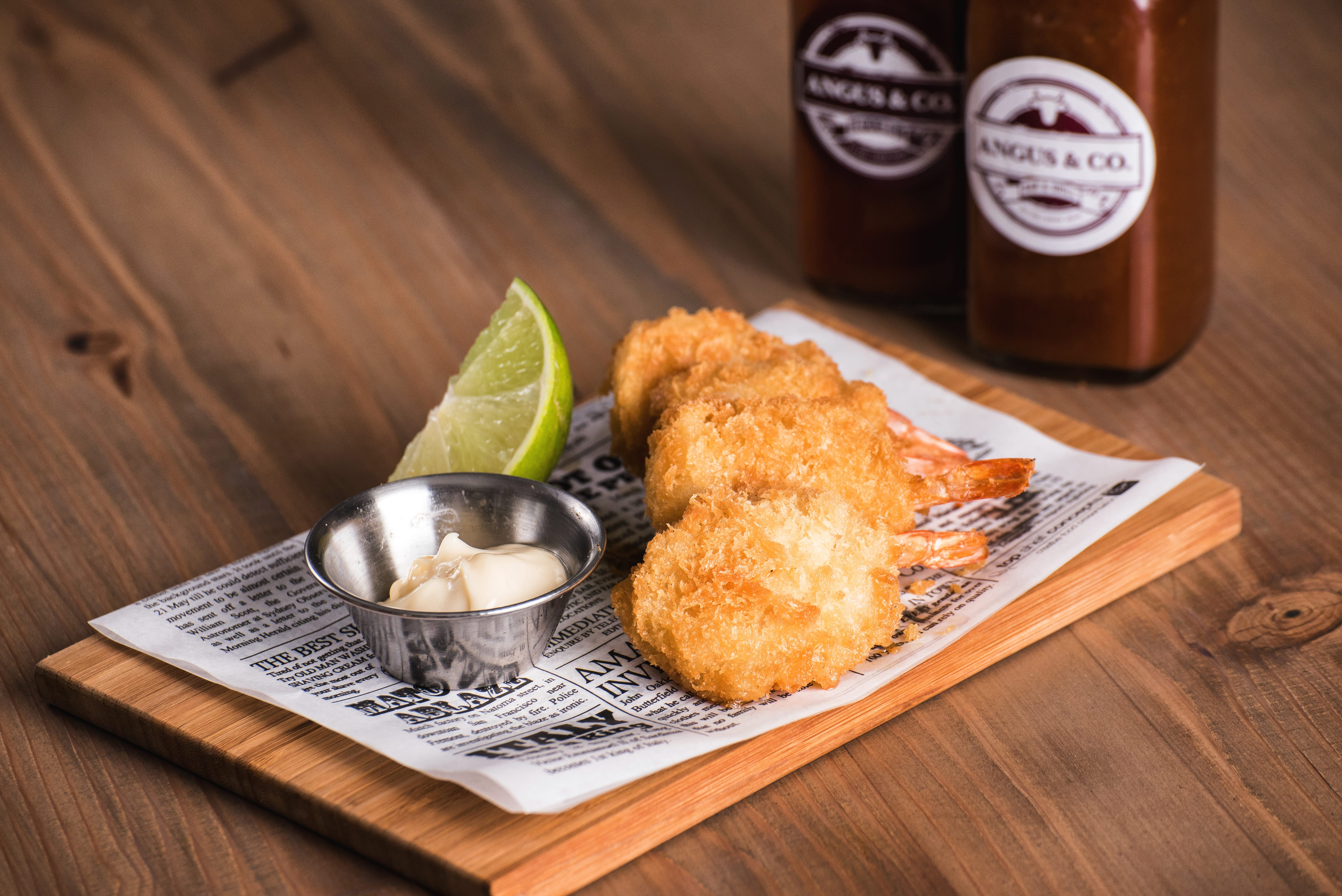 Crumbed prawns, Leigh Creek Bar & Grill, Leigh Creek Outback Resort, Flinders Ranges accommodation