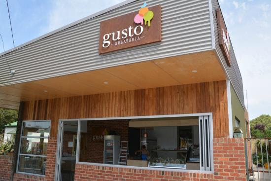 Exterior of Gusto authentic Italian Ice Cream Shop Inverloch 3996