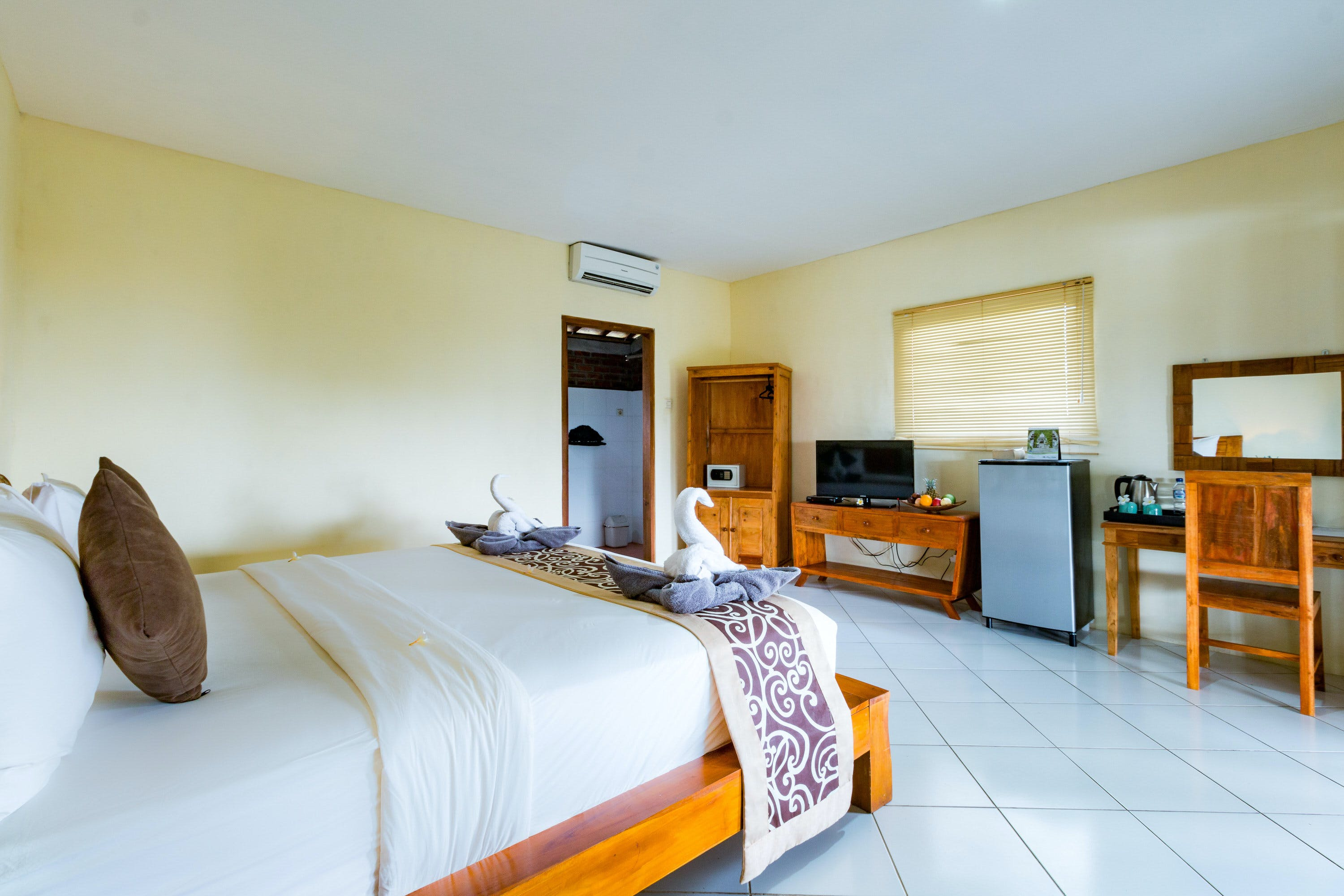Garden View Room at Sea Medewi Resort, best hotel for surfing, yoga, and enjoy Medewi beach in Negara