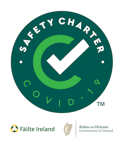 Fáilte Ireland Covid-19 Safety Charter Award to Álaind Lodges