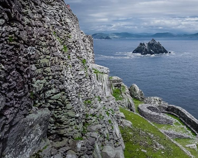 Skellig Michael Star Wars Island View to Little Skellig
