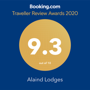 Alaind Lodges Award from Booking.com