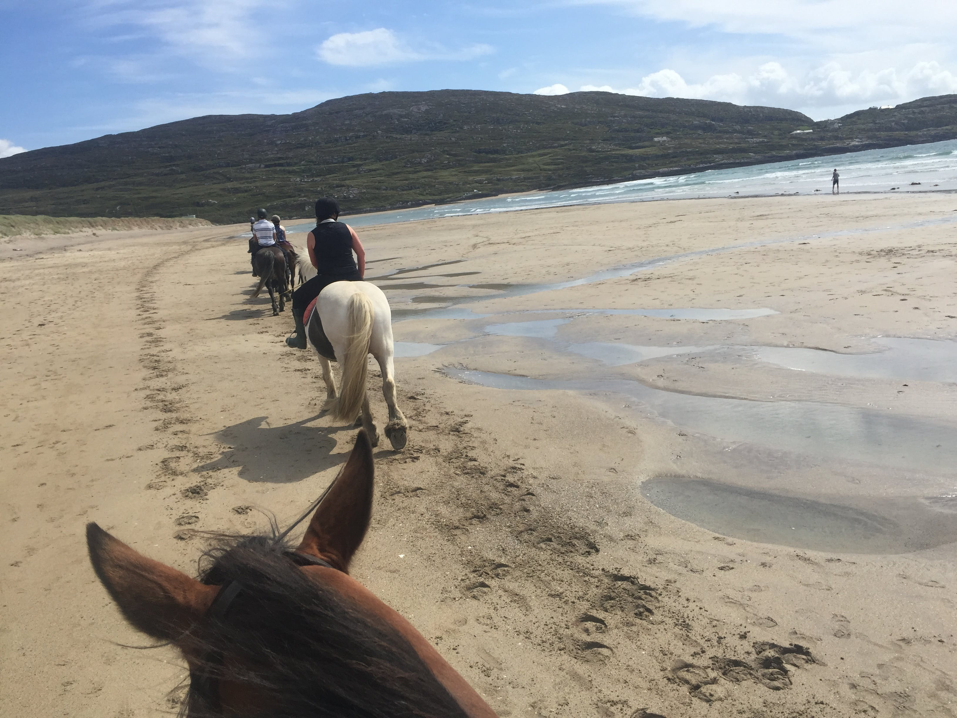 Horse Riding on Derrynane Beach in Kerry Ireland