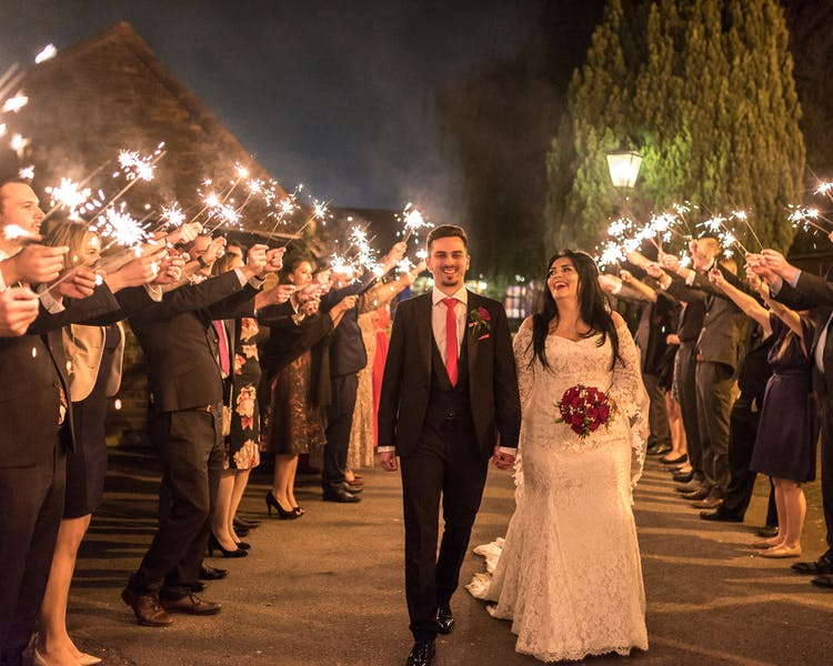 Firework wedding shot. Cantley House Hotel, Berkshire