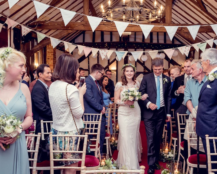 Barn wedding ceremony near Reading