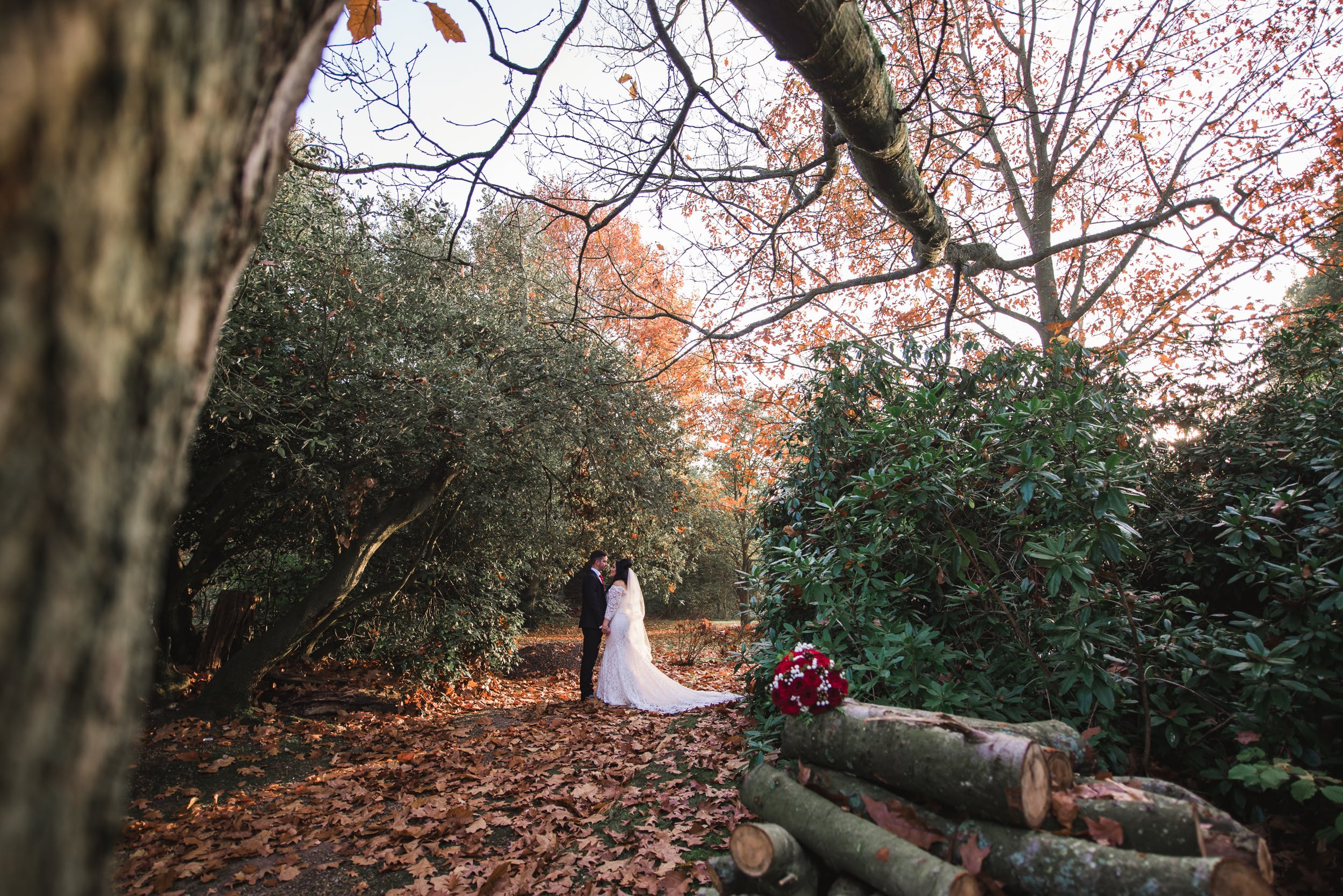 Autumn wedding, Cantley House near Reading