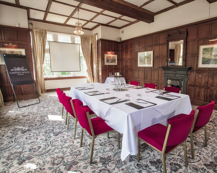 Meeting, Oak Room, Cantley House, stately home