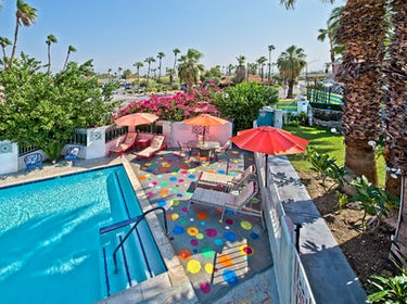 Overhead view of the dots by the pool at Inn at Palm Springs in Palm Springs, CA. 1