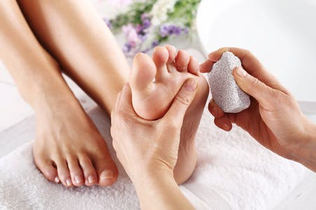 Pedicure treatment available to Hotel Guests by appointment