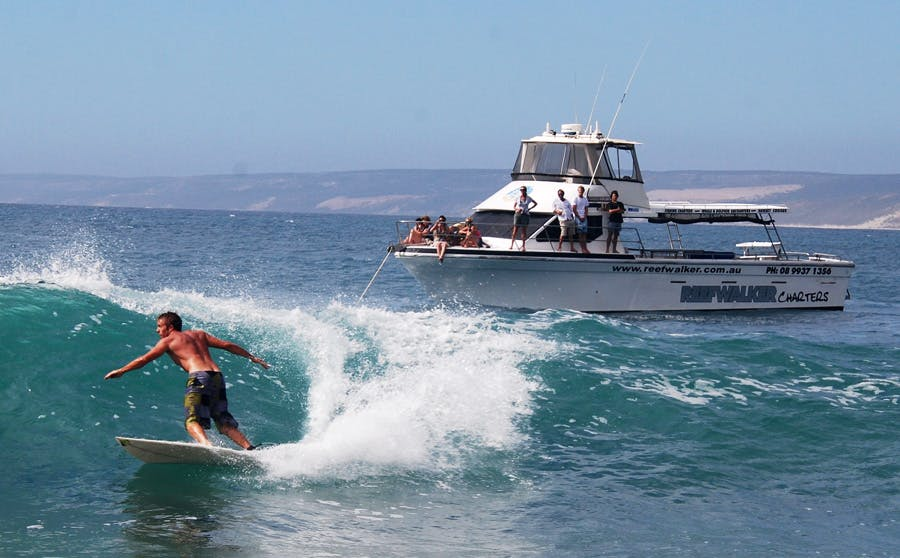 Reef walker fishing charters, Kalbarri fishing and whale watching tours.