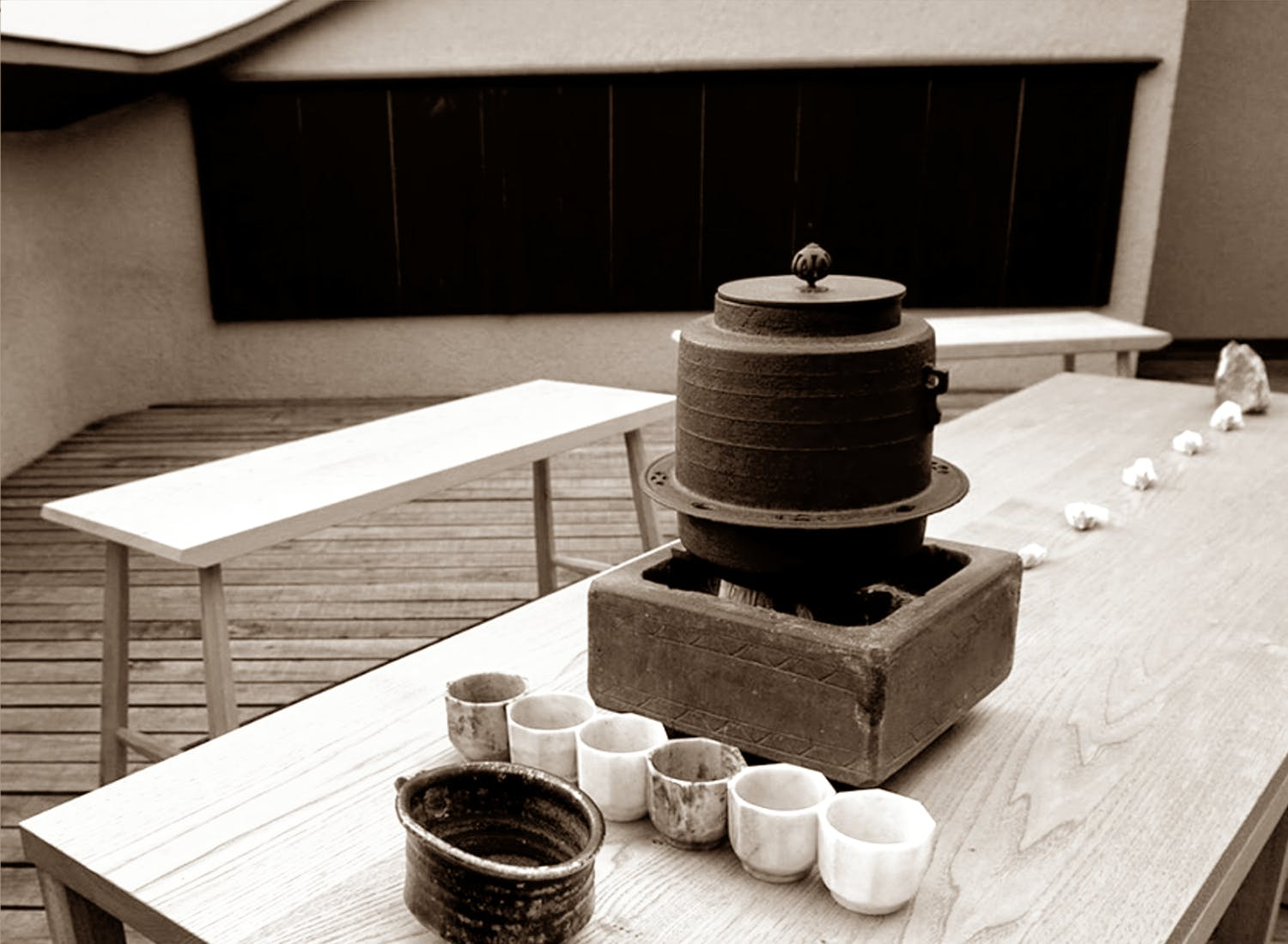 Shimaya Stays Kyoto Japanese Tea Ceremony - Open-air tea gathering at rooftop of Komatsu Residences