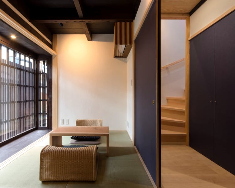 BenTen West Machiya in Kyoto 1F Japanese Room and Staircase