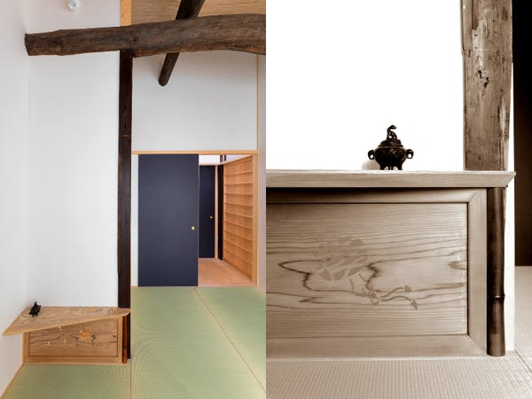 BenTen West - 2F Japanese room with antique wood panel (Ranma)