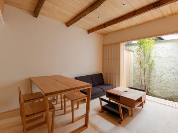 BenTen West Machiya in Kyoto - Living Area - Handmade Furniture