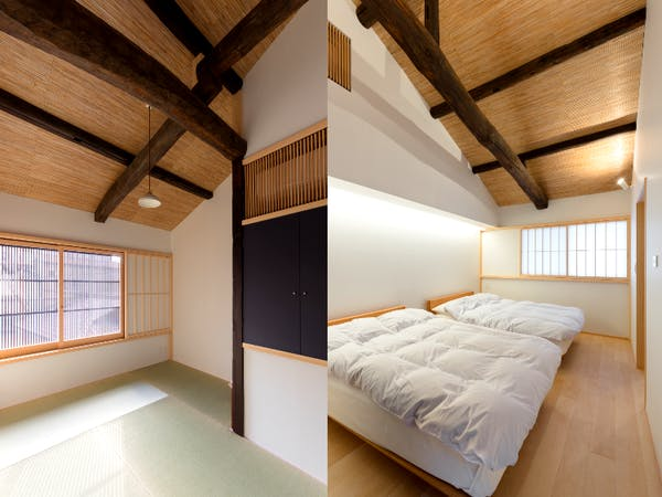 BenTen West Machiya in Kyoto - 2F Bedrooms