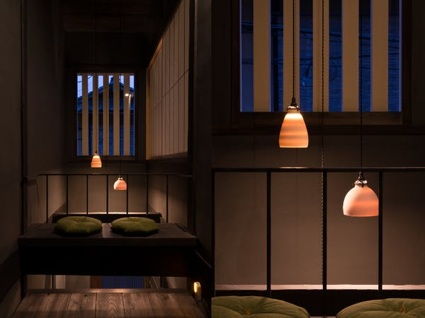 BenTen East Machiya in Kyoto - Reflection Space at night