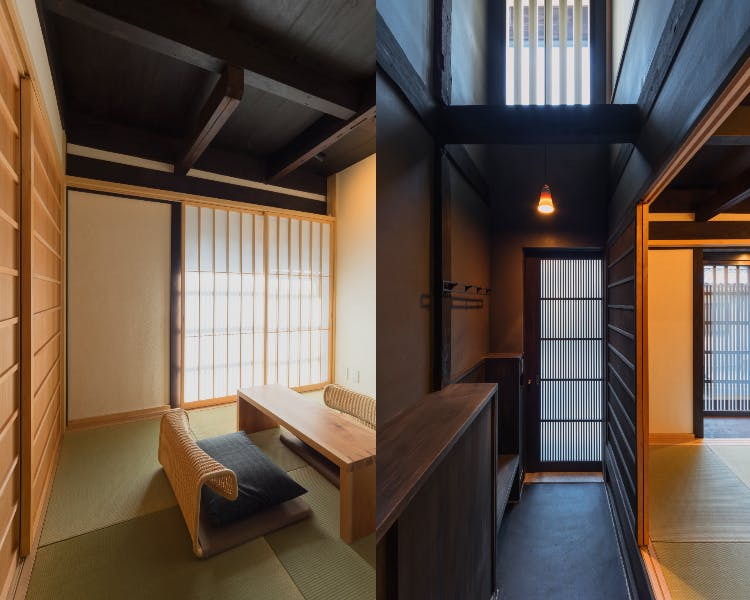BenTen West Machiya in Kyoto - 1F Japanese Room and Entrance Area