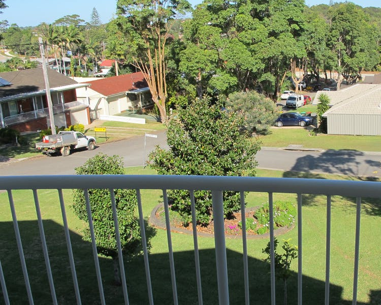 Parkland from motel balcony