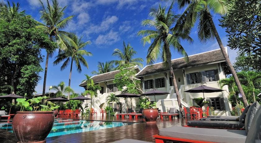 Villa Maly poolside Luang prabang hotel swimming pool