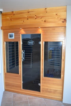 Relax and Rejuvante in the Infra Red Therapy Sauna. Free of charge.
