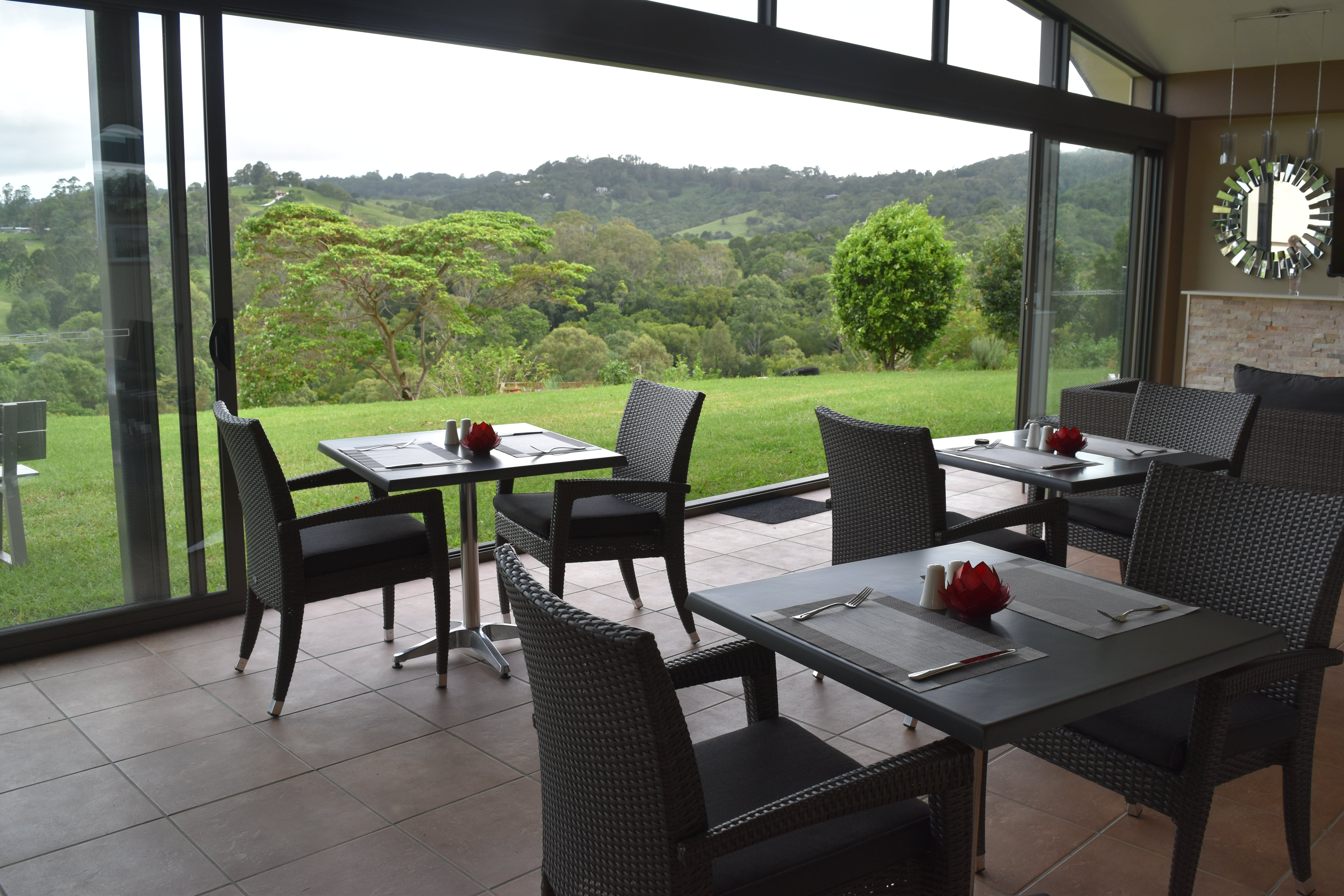 Dining Room with a view. Fully air conditioned and open fire.